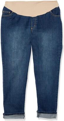 Three Seasons Maternity Women's Maternity Plus Size Cuffed Denim Ankle Jean