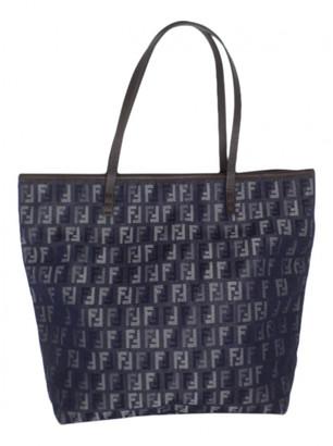 Fendi Roll Bag Blue Cloth Handbags