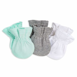 Burt's Bees Baby baby girls Mittens No-scratch Mitts 100% Organic Cotton Set of 3 Mittens