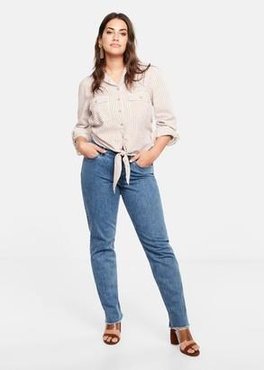 MANGO Violeta BY Straight-fit Theresa jeans medium blue - 10 - Plus sizes