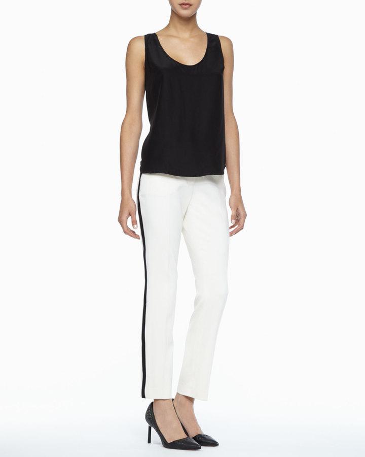 Rachel Zoe Vienna Side-Stripe Pants