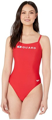 Speedo Guard Flyback One-Piece (US Red) Women's Swimsuits One Piece