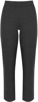 Eileen Fisher Charcoal Slim-leg Jersey Trousers