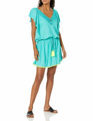 Trina Turk Women's Flutter Sleeve Tunic Swimwear Cover Up