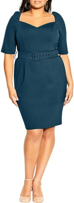 City Chic Illusive Sleeve Sheath Dress