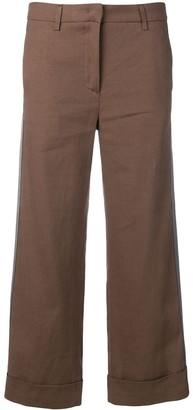 Fabiana Filippi Cropped Side Stripe Trousers
