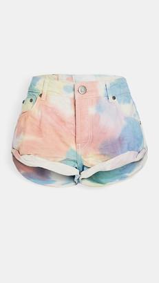 One Teaspoon Rainbow Tie-Dye Bandit Shorts