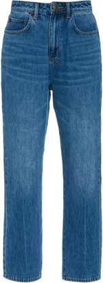 Ksubi Chlo Wasted Rigid High-Rise Straight-Leg Jean