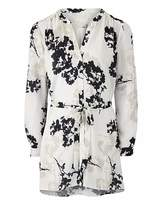 Fashion World Floral Ivory Print Belted Tunic