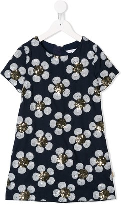 Little Marc Jacobs Floral Sequinned Dress