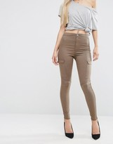 Asos RIVINGTON Jeggings in Walnut Brown and Side Pockets