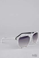 Ksubi Milka Sunglasses in Black & White Stripe