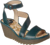 Fly London Yesk Leather Wedge Sandal