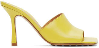 Bottega Veneta Yellow Stretch Heeled Sandals
