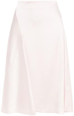 Samsoe & Samsoe Samse Samse Eva Draped Satin-crepe Skirt