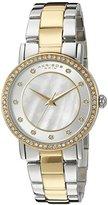 Akribos XXIV Women's AK880TTG Round Silver and White Dial Three Hand Quartz Bracelet Watch