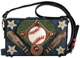 Mary Frances Baseball Leather Purse