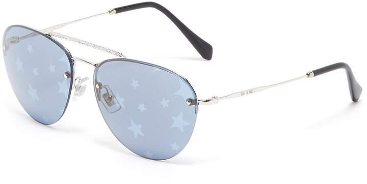 d91d1bc4b Miu Miu Brow Bar Sunglasses - ShopStyle