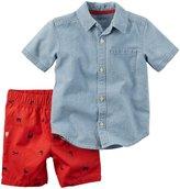 Carter's 2 Piece Playwear Set (Baby) - Denim - 3 Months