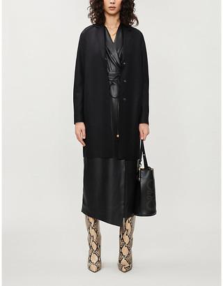 Harris Wharf London Cocoon single-breasted pressed-wool coat