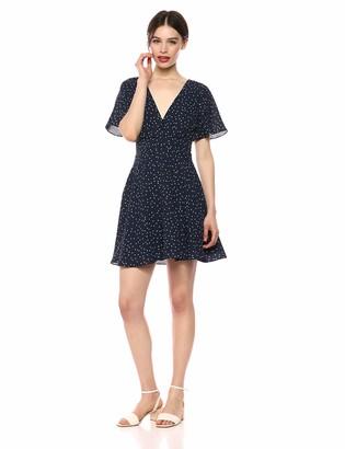 BB Dakota Womens la la Land Flutter Sleeve fit and Flare Dress