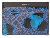 Kenzo Animal Print Logo Leather Card Wallet