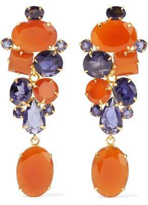 Bounkit Gold-Tone Stone Earrings