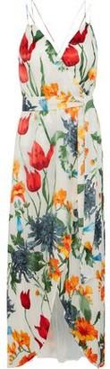 Alice + Olivia Susana Wrap-effect Floral-print Fil Coupe Chiffon Maxi Dress