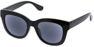 Peepers Women's Center Stage Reading Sun-Black +3.00 Sunglasses 47 mm