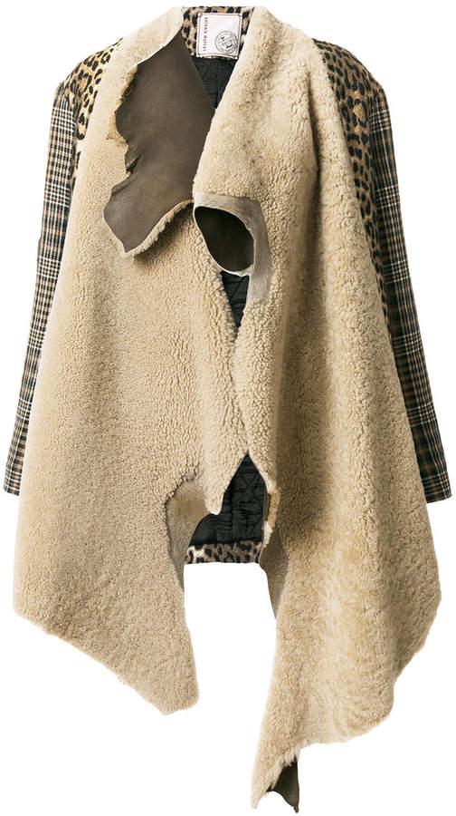 Antonio Marras mismatched asymmetrical coat