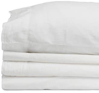 Jennifer Adams Home Jennifer Adams Relaxed Cotton Percale Adjustable Split King Sheet Set Bedding