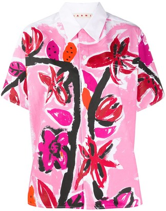 Marni Painted Short Sleeve Shirt