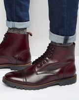 Base London Siege Lace-up Leather Boots