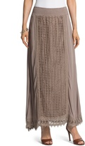 Chico's Crocheted Lace Maxi Skirt