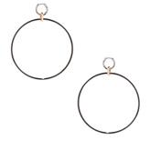 Spinelli Kilcollin Altraire Noir Hoop Earrings in Metallics.