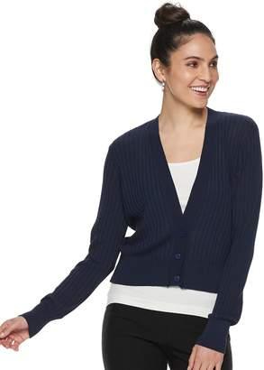 Apt. 9 Women's Ribbed Crop Cardigan