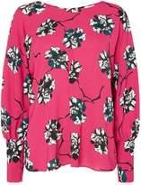 Linea Florence floral print pleat front blouse
