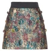 Dolce & Gabbana Embellished Metallic Mini Skirt