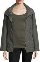 Eileen Fisher Hooded Zip-Front Jacket W/Stand Collar, Plus Size