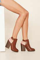 Forever 21 FOREVER 21+ Cutout Faux Leather Booties
