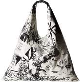 MM6 MAISON MARGIELA Fragile Scribble Hobo Hobo Handbags