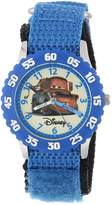 Disney Kids' W000083 Cars Stainless Steel Time Teacher Watch