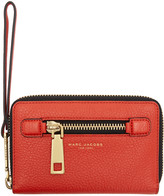 Marc Jacobs Red Gotham Zip Phone Wallet