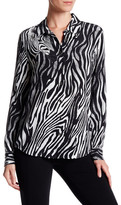 Equipment Brett Animal Print Silk Shirt