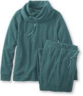 L.L. Bean Cloud Fleece Sleepwear, Cowlneck PJ Set