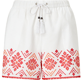 Somerset by Alice Temperley Embroidered Shorts, White Mix