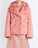 Burberry Hooded Faux-fur Coat