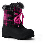 Lands' End Girls Polar Snow Boots-Classic Navy