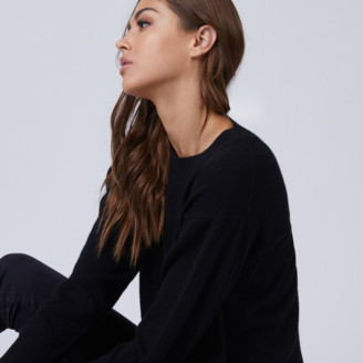 DSTLD Cashmere Crew Neck Sweater in Black