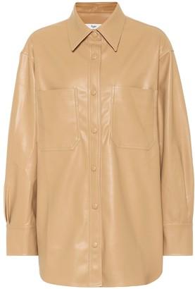 Frankie Shop Yoyo faux leather shirt